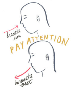 Pay full attention to your breath .... in and out.